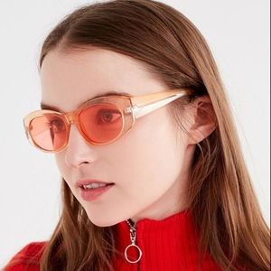 Retro Candy Squared Oval Sunglasses Orange Peach